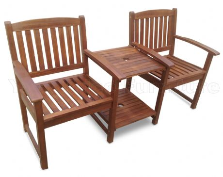 Banbury Love Seat Hardwood Garden Bench 1/2 Price Sale Now On Your Price Furniture